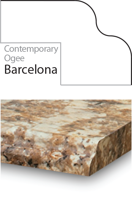 Barcelona Laminate Postform Edge Profile