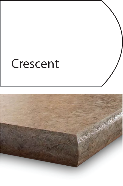 cresent laminate edge profile