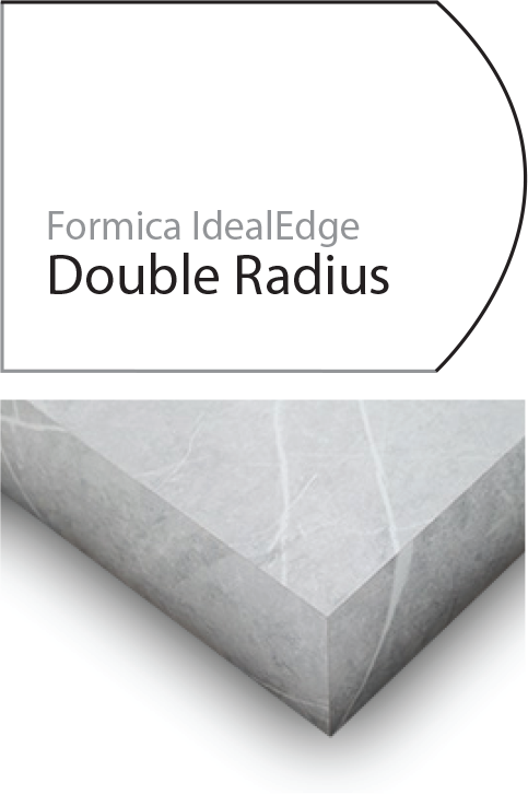 Double edge laminate edge profile