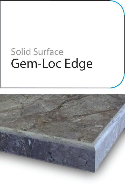 Gemlock laminate edge profile