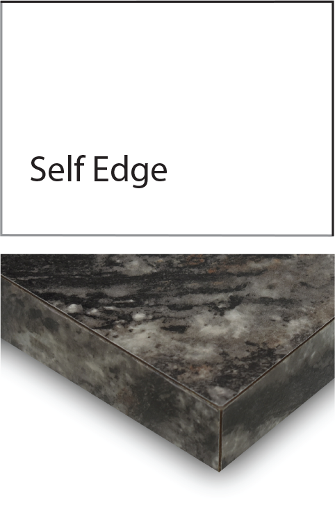 self laminate edge profile