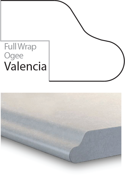 Valencia Laminate Postform Edges Profile